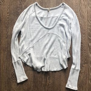 Free people waffle knit top S